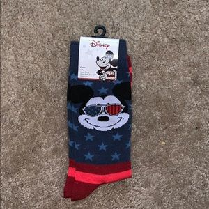 Red, White and Blue Mickey Mouse Crew Socks
